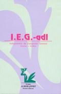 I.E.G. Instrumentos de Evaluaci�n General. J�venes y adultos