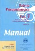 Batería psicopedagógica EOS-3. ( Manual + Cuadernillo ).