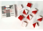 Cubos de Kohs. 9 Cubos de plástico blancos y rojos