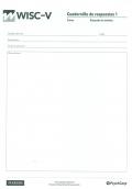 Paquete de 25 cuadernillos de respuestas 1 claves WISC-V, Escala de inteligencia de Wechsler para niños-V