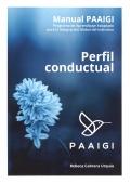 Manual PAAIGI. Perfil conductual