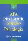 APA. Diccionario conciso de psicología.