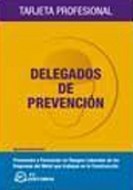 Delegados de prevención. Tarjeta profesional.