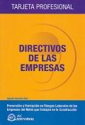 Directivos de las empresas. Tarjeta profesional.