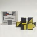 9 cubos de plástico amarillos y negros