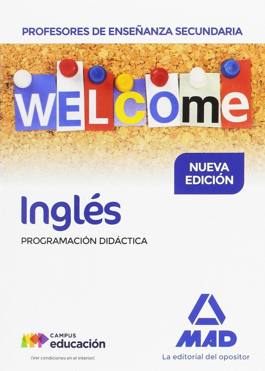 INGLéS. PROGRAMACIóN DIDáCTICA. CUERPO DE PROFESORES DE