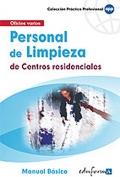 Personal de limpieza de centros residenciales. Manual básico.