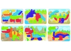 Láminas de modelos para mosaicos de pinchos de 20mm. Dinosaurios