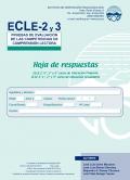ECLE-2 y 3. Hoja de Respuesta y uso de corrección
