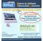 Gestor Online de BADYG M, Bateria de Aptitudes Diferenciales y Generales. (60 usos)