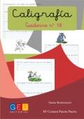 Caligrafía. Cuaderno 18. Pauta Montessori
