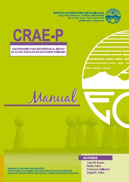 Resultado de imagen de CRAE-P Cuestionario para identificar el riesgo de acoso escolar en educación primaria