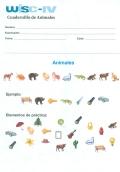 Paquete de 25 cuadernos de animales de WISC-IV, Escala de inteligencia de Wechsler para niños - IV.