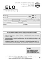 Paquete de 10 hojas de respuesta de ELO, Prueba para la Evaluación del Lenguaje Oral.