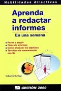 Aprenda a redactar informes. (En una semana)