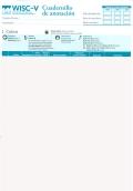 Cuadernillos anotación + 25 perfiles on line de WISC-V, Escala de inteligencia de Wechsler para niños-V